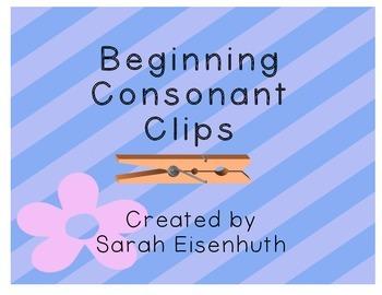 Beginning Consonant Clip Cards