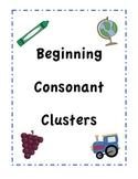 Beginning Consonant Cluster Center Activity