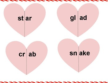 Beginning Consonant Clusters Match with Hearts