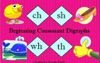 Beginning Consonant Digraphs SMARTBoard Activities
