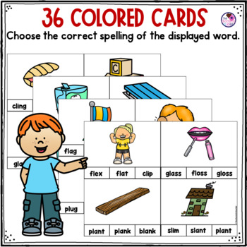 L Blends Clip Cards and Printables