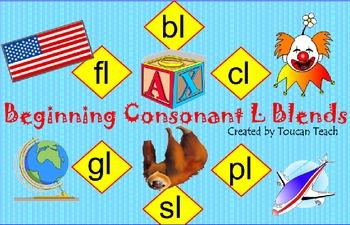 Beginning Consonant L Blends SMARTBoard Activities