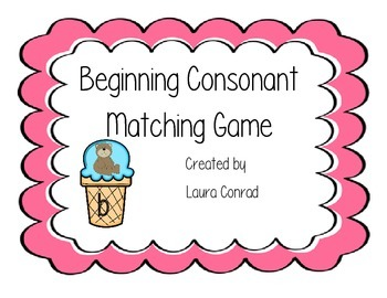 Beginning Consonant Matching Game