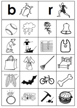 Beginning Consonant Picture Sorting Centers Set of 14 Literacy Centers