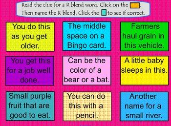 Beginning Consonant R Blends SMARTBoard Activities