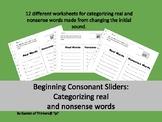 Beginning Consonant Sliders