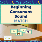 Beginning Sound Consonant Match Cards (color & black/white)