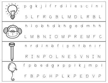 Beginning Consonant Sound Punch-Outs - FREEBIE