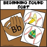 Beginning Consonant Sound Sort - Baseball Theme