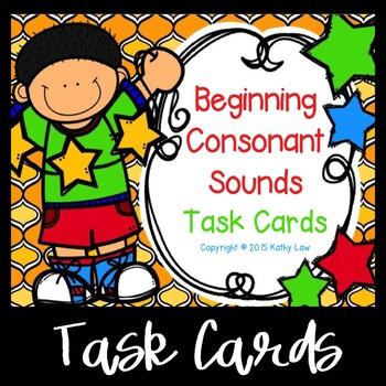 Beginning Consonant Sound Task Cards