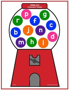 Beginning Consonant Sounds Bubblegum Game