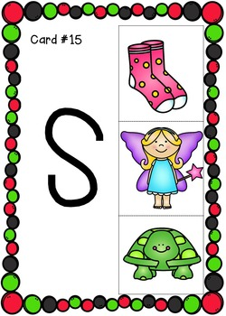 Beginning Consonant Sounds Clip Cards