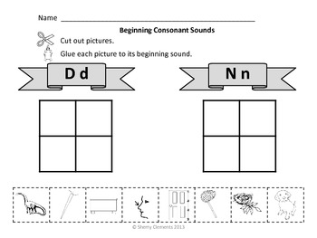 Beginning Consonant Sounds (Cut and Paste)