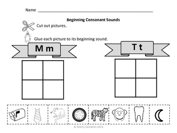 Beginning Sounds Distance Learning