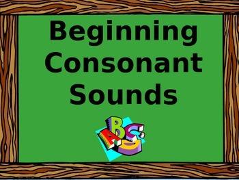 Beginning Consonant Sounds PowerPoint