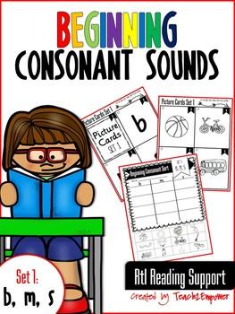 Beginning Consonant Sounds Set 1: B, M, S