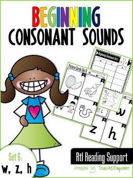 Beginning Consonant Sounds Set 6: W, Z, H