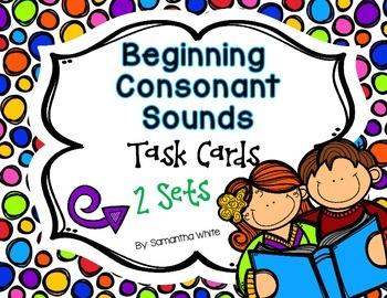 Beginning Consonant Sounds {Task Cards}