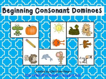 Beginning Consonants Dominoes