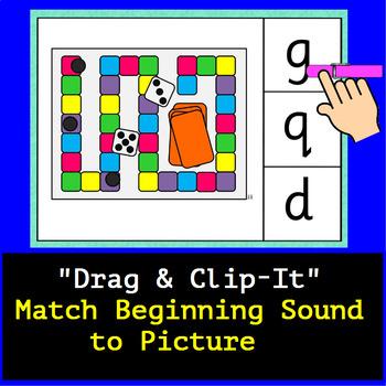 Beginning Consonants Google Digital Clip-IT Task Cards