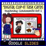 Beginning Consonants Google Digital Clip-IT Task Cards
