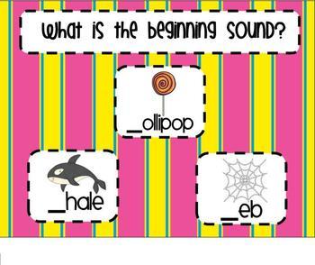Beginning Consonants SMARTBoard Senteo Lesson 2