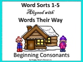 Beginning Consonants Word Sorts 1-5 for Words Their Way
