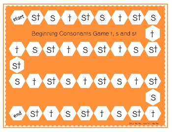 """Beginning Consonants """"s"""" and """"t"""" and Blend """"st"""""""