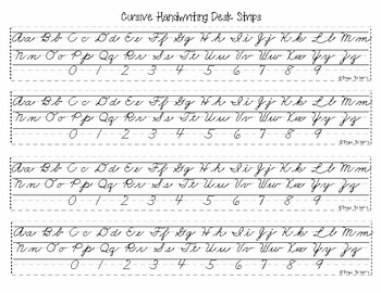 Beginning Cursive Handwriting Practice Set (Worksheets, Flashcards, Desk Strips)