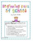Beginning Days of School