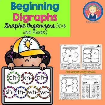 Beginning Diagraphs Graphic Organizers {Cut and Paste} for K-1