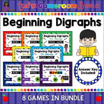 Beginning Digraphs Mini Game Growing Bundle