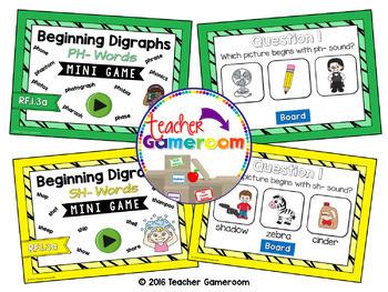Beginning Digraphs Mini Powerpoint Game Bundle