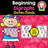Beginning Digraphs Anchor Charts for Kindergarten and First Grade