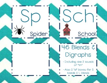 Blends & Digraph Mini Chevron Posters