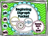 Beginning Digraph: Sound, Sort, Spell Packet