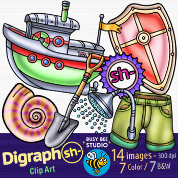 Beginning Digraph SH Clipart
