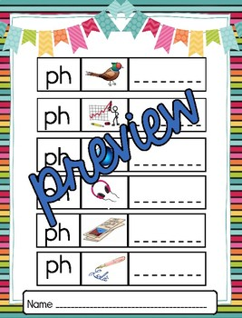 Beginning Digraph Sounds - BUNDLE (wh, ch, sh, th, ph)