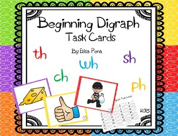 Beginning Digraph Task Cards
