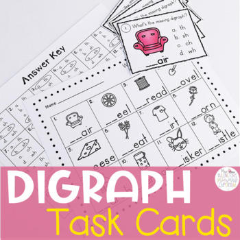 Beginning Digraph Task Cards with Multiple Choice