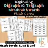 BEGINNING Digraph & Trigraph Blends with Words and Word Bl