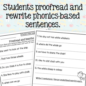 Beginning Digraph (sh, th, wh, ch) Sentence Writing Activity (3 in 1)