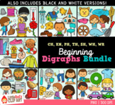 Beginning Digraphs Clip Art BUNDLE