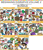 Beginning Digraphs Clip Art - VOLUME TWO - GROWING BUNDLE
