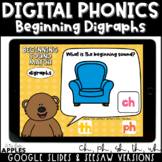 Beginning Digraphs Digital Phonics Activities | Distance Learning