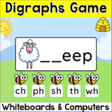 Beginning Digraphs Game - Phonics Word Work Game - Spring