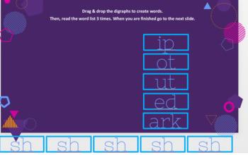 Beginning Digraphs Google Slides Activity