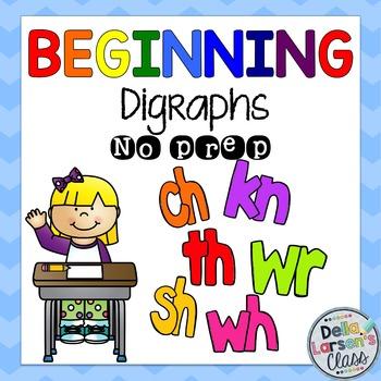 Beginning Digraphs No Prep Worksheets