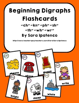 Beginning Digraphs Phonics Flashcards Bundle