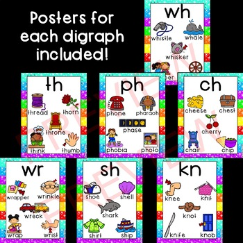 Beginning Digraphs Posters & Matching Game Cards!